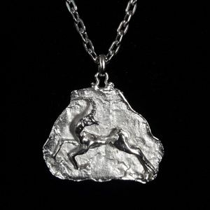 Jewelry - Sterling Silver Leaping Gazelle Necklace